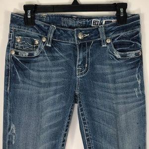 Miss Me Jeans Women Sunny Skinny Stretch Stitching